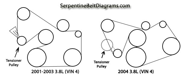 3 8 liter ford windstar serpentine belt schematic