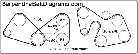 2000 2006 Suzuki Vitara Belt Diagram