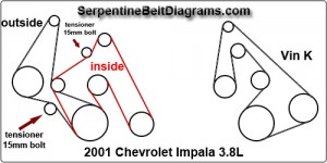 impala belt diagram