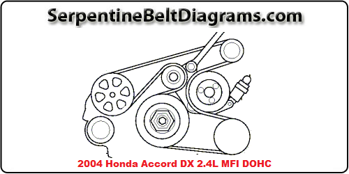 2004 Honda Accord DX 2.4L DOHC Serpentine Belt